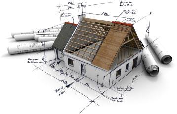 Plan von Haus mit Dach